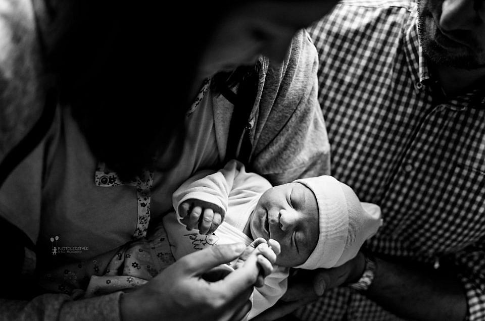 Sesja noworodkowa w szpitalu